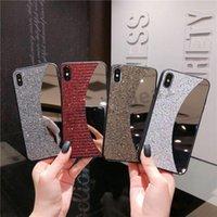 Casos Espelho Girl Elegante para iPhone 11Pro Luxo Bling Strass Glitter PhoneForiphone 6 7 8 PLUS XS MAX CASA DE VOLTA