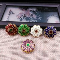 50pcs Cloisonne Enamel Lotus 18mm DIY Beaded Accessories Jewelry Making Charms Earrings Bracelet Necklace Pendants
