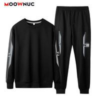 Felpe con cappuccio da uomo + PANT 2021 Sportswear Casual Set da jogger maschio moda primavera autunno felpa Autunno Hombre Slim Moowniuc