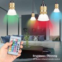 스마트 컨트롤 램프 LED RGB 조명 Dimmable 3 / 5 / 10 / 15W RGBW 다채로운 변경 전구 가정 장식 전구