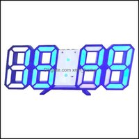 Wall Décor & Gardenwall Clocks Display Sn Alarm Clock Large Digital Led Modern 3D Home Living Room Table Decor Gift Drop Delivery 2021 Excyp