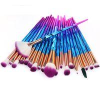 20pcs set Diamond Makeup Brushes Set Beauty Make Up Brush Pincel Maquiagem Powder Foundation Blush Blending Eye Shadow Lip Cosmetic