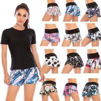 Femmes Sport Short shorts de yoga Short Summer Taille haute Running Fermeture à glissière Pochette rapide Gym Sèche Libre Load Wide Gym Gym Vêtements