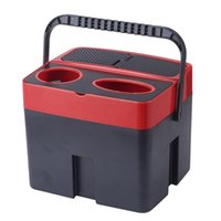 Car Organizer Multi-Functional Storage Box Trash Can Beverage Cup Holder Automobile Interior Tissue Holders 3 Colors For Opt