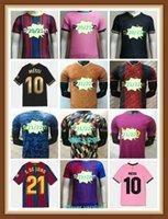 2021 2022 Spielerversion Camise 10 Messi 7 Griezmann Fussball Jersey Home Away Drittes 4. Rosa Hemd # 21 F.de Jong Customized Football Uniformen
