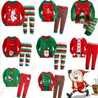 Clothing Sets Santa Claus Children's Autumn And Winter Home Suit Pajamas Cotton Lycra Christmas
