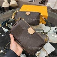 إمرأة مصمم حقائب الكتف حقيبة crossbody جودة عالية التسوق محفظة محفظة فاخرة حقيبة الظهر حقائب اليد المحافظ للجنسين 3 قطعة مجموعة 2 اللون