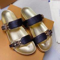 Chaussures Femme Mode Homme Luxe Slides Slipper Sandales compensées dame pour cuir plat sandales femmes lettre chaussures de plage femme classique