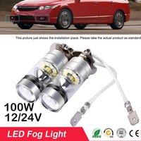 Car Headlights 2PCS Light H3 LED High Power Fog Day Running Bulb Lights Super Bright Auto CREE Chip 6000K