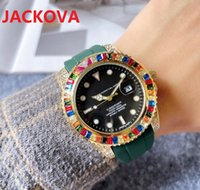 High quality fashion womens mens quartz watch 41MM Crystal Diamonds Ring bezel Sapphire Rubber Silicone Nice clock stopwatch gifts Luminous Watches montre de luxe