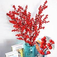 اكليل الزهور الزخرفية تلتقط التوت - 144 السيق الأحمر الاصطناعي شجرة عيد الميلاد ديكورات شجرة عيد الميلاد 7.5 بوصة لكريستما الزفاف الرئيسية الديكورات