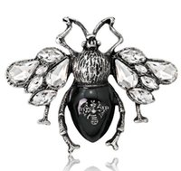 Vintage Insecto Bee Broches Pinos Joyería de Moda Pin Pin Metal Insecto Broches Banquete Boché Regalo Sombrero Sombrero Bufanda Collar PS1013