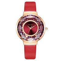 Orologi da polso moda signore orologio di lusso diamante di lusso quicksand palla quartzwatch donne vestito stile casual style impermeabile cinturino sottile femmina