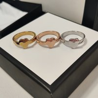 Bestare vendendo anello argento placcato in lega di alta qualità tre colori Top anelli per la donna moda semplice personalità fornitura di gioielli
