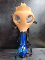 Gas Mask with Acrylic Smoking Silicone Pipe Tabacco smoke pipes water pipe smoke accessory for smoking pipe
