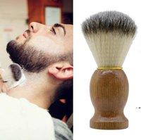 جديد لينة حلاقة فرشاة الغرير الشعر الشعر الحلاق صالون الوجه تنظيف الأجهزة حلاقة أداة لحية فرشاة الحلاقة فرش مع الخشب مقبض EWF7535