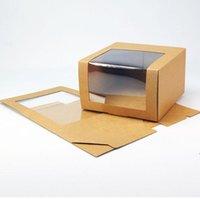 Papierhutschachtel mit PVC-Fenster Baseballkappe Baser-Party-Hut-Verpackungsboxen Geschenk Verpackungsbox Großhandel ZZD8472