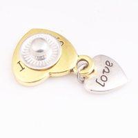 1 очарование браслеты любят мама сестра бабушка дочь 12 мм золотая металлическая щелчка нажатия DIY ювелирные изделия MS3212