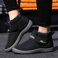 Snow Boots Plush Warm Ankle Boots For Men Winter Waterproof Mens Winter Shoes Zip Booties V19 Black Ankle Boots Wedge Shoes From , $17 d98L#