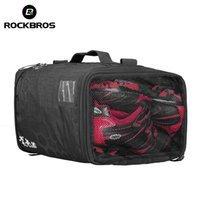 ROCKBROS Bicycle Bag Waterproof High Capacity Triathlon Bags Bike Backpack With Rain Cover Outdoor Sports Package Training Gym Pouch