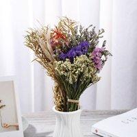 1Boúquets Natural Secado Gypsophila Mini Material Real Flower Material Planta Tallos PO Precios DIY Artesanía Decoración de boda Decorativas Flores Guirnaldas