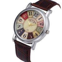 WristWatches Mulheres Simples Relógios Retro Digital Digital Banda De Couro Quartzo Analógico Relógio de Pulso Bayan Kol Feminino Recursos Design Clockb50