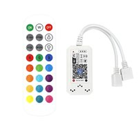 RGB LED Controller Smart WiFi 4 Pin,LED Strip,LED Lamps ,Dimming Color Changing Wireless Remote Control Compatible with Alexa Google Assistant IFTTT Voice Command