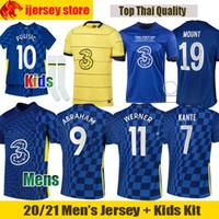 21 22 Chelsea Futbol Formaları WERNER ZIYECH 2021 2022 ABRAHAM PULISIC Futbol Formas KANTE MONTAJ Forması Çocuk Kiti
