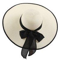 2021 Sıcak Geniş Ağız Floppy Bayanlar Seyahat Plaj Şapkalar Kadınlar Için Seaside Tatil Büyük Saçak Saman Katlanır Joker Sun Şapkalar