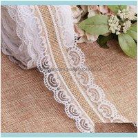 Chair Ers Textiles Home & Gardenrustic Natural Jute Lace Burlap Hessian Ribbon Wedding Centerpieces Decor Sashes Drop Delivery 2021 Q0Evn