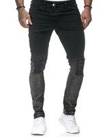 Mens Deisgner Jeans Fashion Hole Slim Wilded Pencli штаны роскошная молния