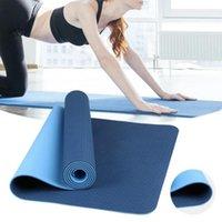 Tapetes de Yoga Monocromático TPE Mat, Almofada de Alta Densidade para Iniciantes, Fitness antiderrapante e Perda de Peso Pilates Gymnastics Matte