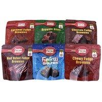 Infundierte Brownies Canna Butter-Köstlinge Verpackung Taschen 600mg Kuchen Leerer Kaugutfetti Fudge Snacks Caramel Bites Rot Samt