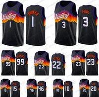 Top Men City City Basquetebol Jersey Devin 1 Booker Phoenix Suns Chris Paul Deandre Ayton Jae Cróia Novo Uniforme