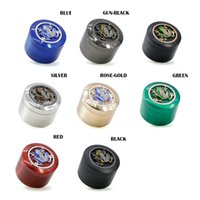 DHL Zinc Alloy 4 Parts Smoking Tabacco Grinder 63mm Dia CNC Teeth Dry Herb Grinders Metal Smoke Accessories Tabaccos Crushers