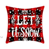 Pillow Case Santa Claus Christmas Tree Snowman Elk PillowCase Colorful PillowCover Home Sofa Car Decor Pillowcases RRD11118
