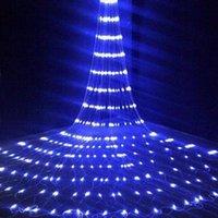 Cordes Cascade Waterfal Steproof Meteor Douche Pluie String Lumière 3MX3M 320 LED Christmas Christmas Rideau De Mariage Icile Fairy Guirlande Lampe