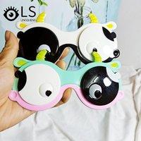الأطفال الكرتون الوجه الاستقطاب نظارات شمسية بقرة kawaii أطفال أزياء الفتيان والبنات سيليكون YG181