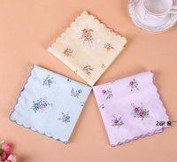 Newcotton Mendil Çiçek Işlemeli Kadın Mendiller Çiçek Lady Hankies Mini Squarescarf Butik Cep Havlu EWB6431