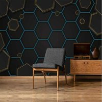 Wallpapers Milofei Manufacturers Custom 3d Stereo Modern Geometric Gold Mosaic Background Wallpaper Mural