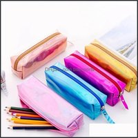 Cases Bags Office Business & Industrialiridescent Laser Case Quality Pu Supplies Stationery Gift Pencilcase Cute Pencil Box School Tools Lx8