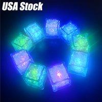 Cubes de glace LED Festival de flash léger Mariage Xmas Partie de fête Décoration Couleur Change Change Bar Accessoires Cultiver dans le noir