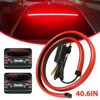 Strip lumineux à LED de voiture Multifunction Flowing 3ème troisième feu d'avertissement de frein arrière arrière arrière rouge montage de signal de signal de signal de secours