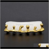 Grillz, Dental Body Jewelryteeth Grillz Volcanic Lava Drip Gold Grills High Quality Mens Hip Hop Jewelry Drop Delivery 2021 Iwzug
