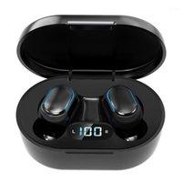 E7S TWS Pro Handsfree Bluetooth Earbuds Écouteurs, casque d'annulation de bruit, APTX dans un casque d'oreille, Sports Sones Bluetooth Headph1