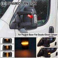 For Boxer Ducato Jumper 2021-2021 Car Side Rearview Mirror Turn Signal Light Dynamic Blinker Indicator LED Emergency Li Lights
