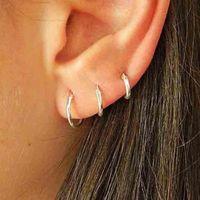6pcs lot Hoop Earrings For Women Men Teens 2021 Trend Jewelry Gold Earings Female Circle Set Of Ear Rings Fashion Piercing Hoops & Huggie
