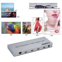Cavi audio Connettori DVI 2x2 Videocomprensivo Video Regolatore da parete 1080P Processore di giunzione monitor 1x2 / 2x1 / 3x1 / 1x3 / 1x4 / 4x1 Image Cucitura 4 TV S