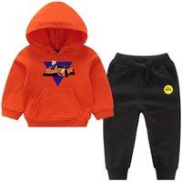 4 Children's Hoodie Pants Suit Spring Autumn Boy's Girl's Sweatshirt Tops Merch A4 Casual Baby Clothing G0917