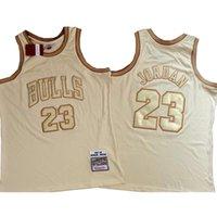 كرة السلة الفانيلة الرجال مايكل جوردون نظام تذكاري من Fiyellow مطرزة جيرسي 23